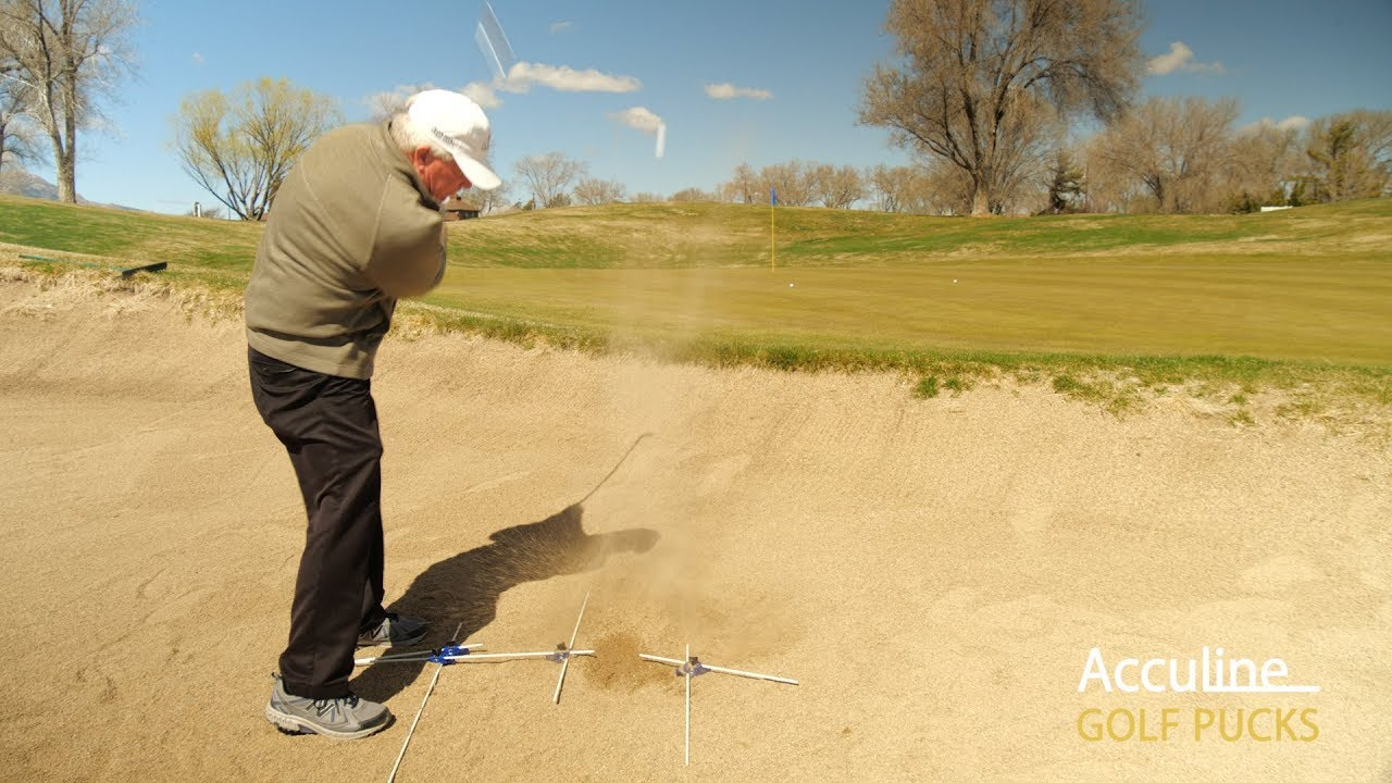 How to Setup Bunker Shots with Golf Pucks Swing Trainer