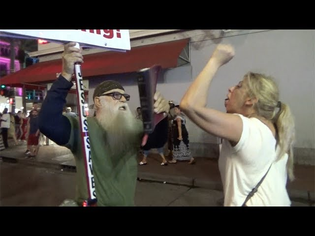 Last Days Madness! Angry sinners get violent in New Orleans