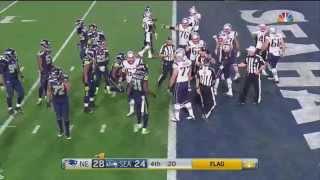 Super Bowl 49 fight HD
