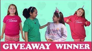 TIANA TOYS AND ME MERCH GIVEWAY WINNER