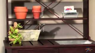 Coral Coast Rustic Garden Potting Bench - Dark Brown - Product Review Video
