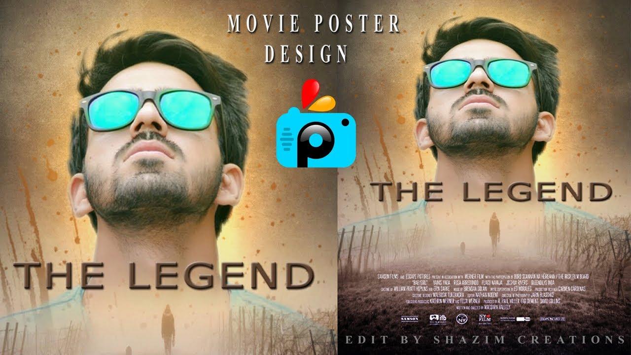 Movie Poster Design Photo Manipulation In Picsart Editing Tutorial
