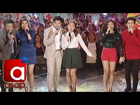 """ASAP: KathNiel, LizQuen, JaDine sing """"Thank You For The Love"""""""