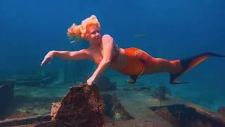 mermaid background footage meditation music: 8 hour positive healing video