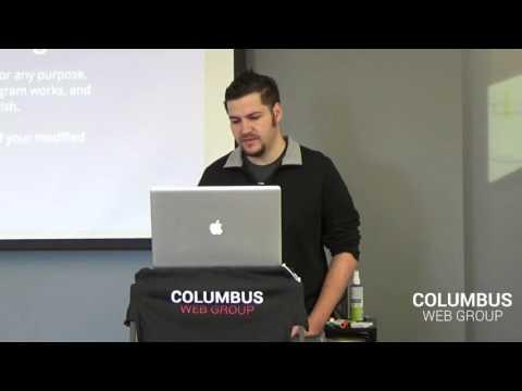 "Columbus Web Group - Weekend Workshop - ""WordPress 101"" Presented by Eric Katz [Day 1 of 2]"