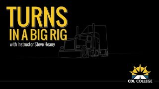 WIDE TURNS: Turns in a Big Rig video