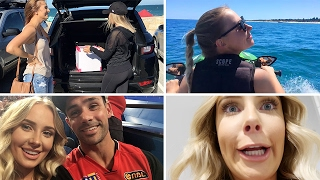 WEEKEND VLOG: Meeting Giveaway Winner, Jetskiing, Curling Hair, Basketball! | Lauren Curtis