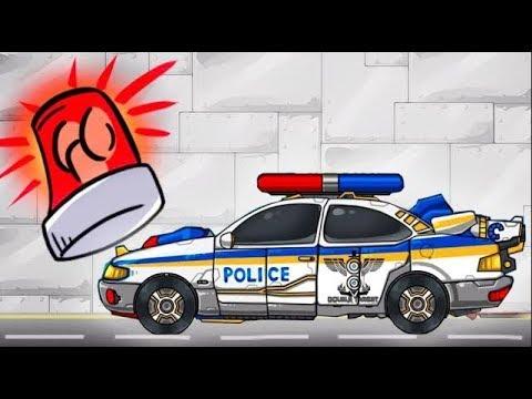 Видео: Мультики про машинки - Новые технологии. Мультфильм игра про полицейскую машину и скорую помощь