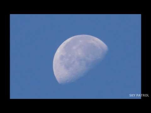 SkyPatrol - Dancing with the Moon - Lunar Morning - Daytime Astronomy - 1080p HD