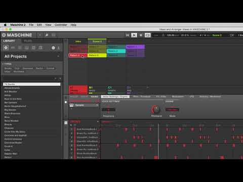 Using the Ideas and Arranger Views in MASCHINE 2
