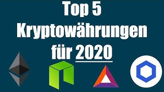 Top 5 Kryptowährungen für 2020 || Altcoin Review / Ranking || Deutsch Bitcoin