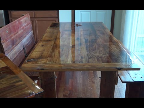 How to Build a Barn Wood Dining Table and Bench