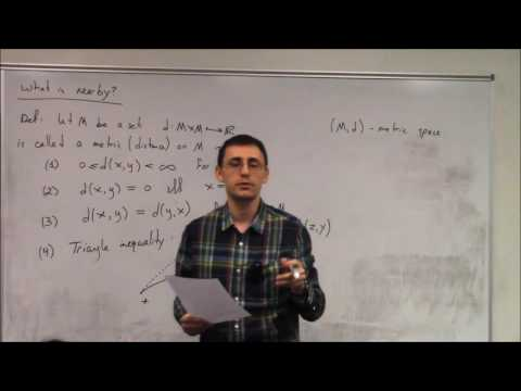 Topics In Analysis (Lecture 1) : Overview of Metric Spaces