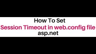 how to set session timeout using inproc mode in asp net web config