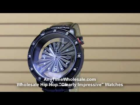 Wholesale Clearly Impressive Hip Hop Watches