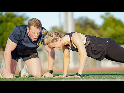 My Girlfriend Attempts The US Navy Fitness Test (and I'm The Instructor)