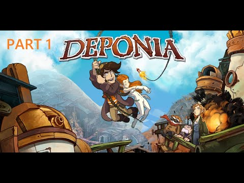 Let's Play Deponia Part 1: Pack The Suitcase |