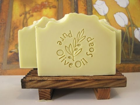 Organic Olive Oil Soap - Making, Cutting & Stamping    סבון שמן זית אורגני