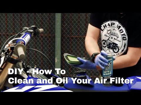 How to Properly Clean and Re-Oil Your Dirt Bike Air Filter using Maxima Products