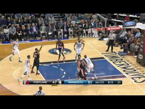 Portland Trail Blazers vs Minnesota Timberwolves | January 1, 2017 | NBA 2016-17 Season
