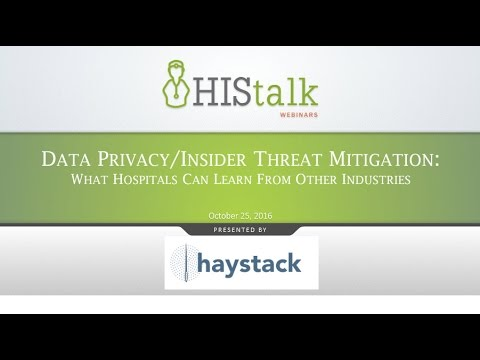 Data Privacy/Insider Threat Mitigation: What Hospitals Can Learn From Other Industries