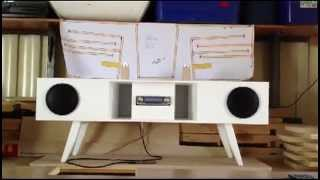 Back Loaded Horn Speaker Box Using Car Stereo Components - Candle Test