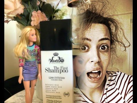 ALISEI O CABELO! veja o  RESULTADO - The first o Shampoo que alisa