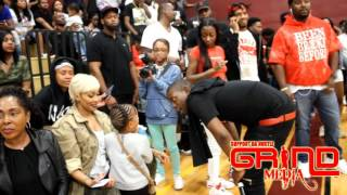 BMG Young Scooter vs YFN Lucci in Celebrity Basketball game