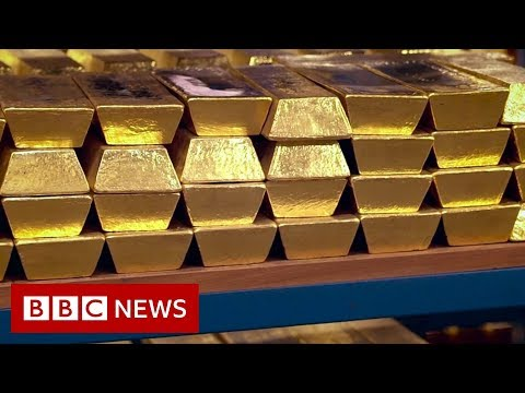 Rare look inside Bank of England's gold vaults - BBC News