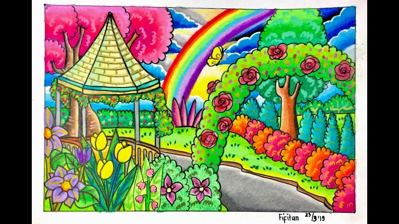 12 gambar mewarnai tema bunga