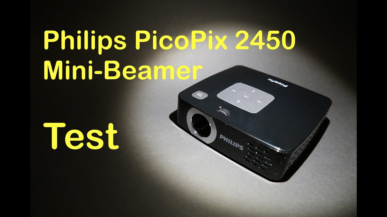 philips picopix 2450 mini beamer mini projektor pocket projector test hands on youtube. Black Bedroom Furniture Sets. Home Design Ideas