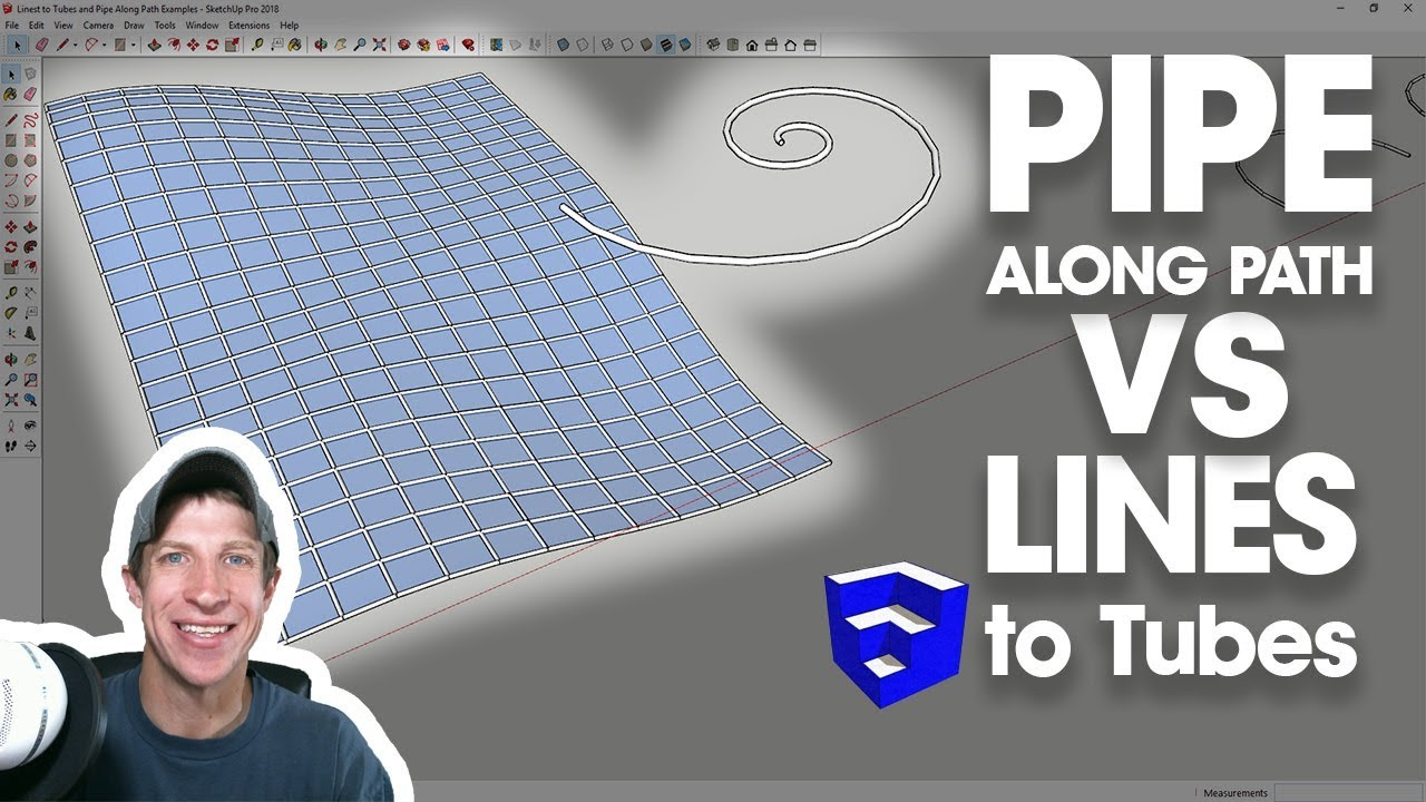 Pipe Along Path VS Lines to Tubes - Which Tube Creation Extension for  SketchUp?