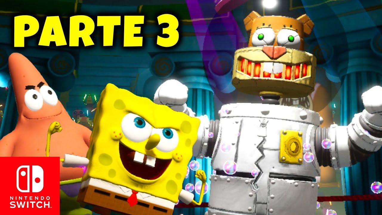 PARTE 3 👉 el ROBOT Arenita 😲 BOB ESPONJA para Nintendo SWITCH | GAMEPLAY ESPAÑOL