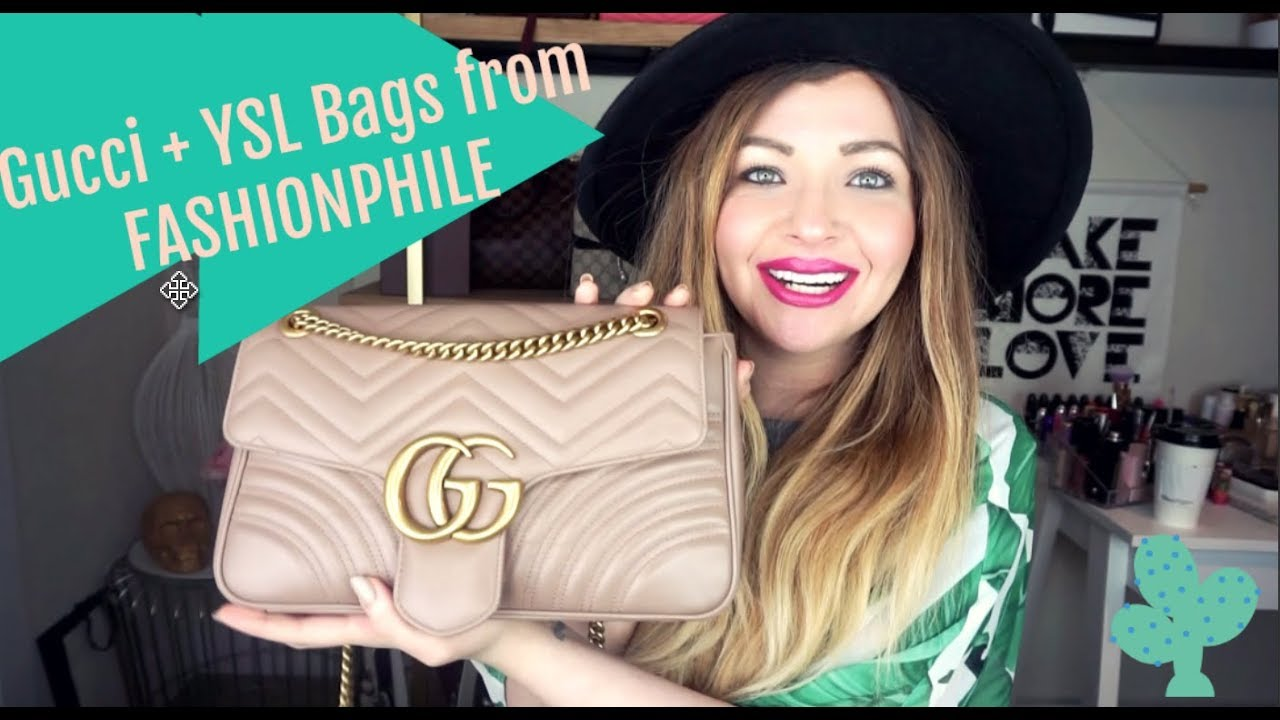 ca2828e18024c9 FASHIONPHILE REVIEW | GUCCI MARMONT + YSL LUXURY HANDBAGS - YouTube