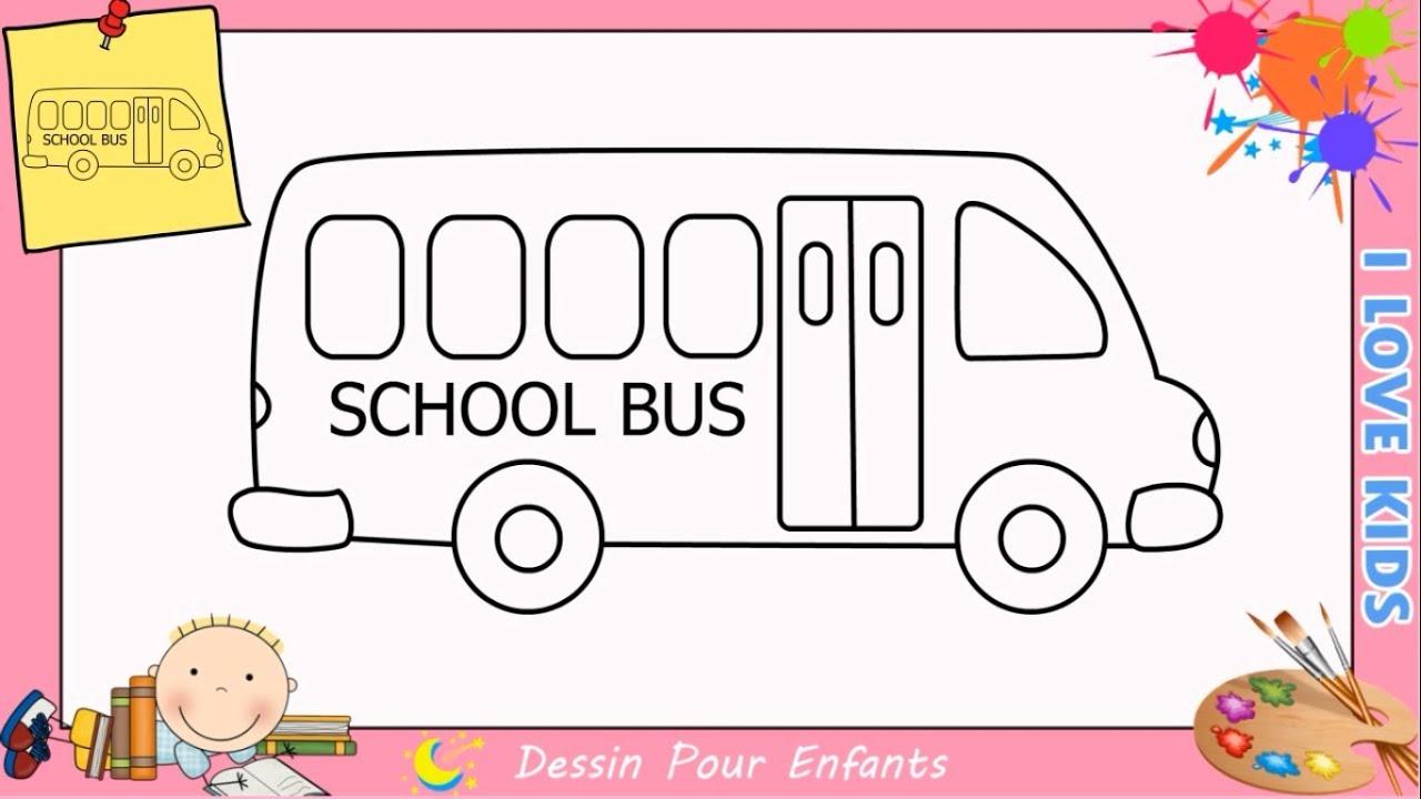 Comment Dessiner Un Bus Facilement Etape Par Etape Pour Enfants Et Debutant