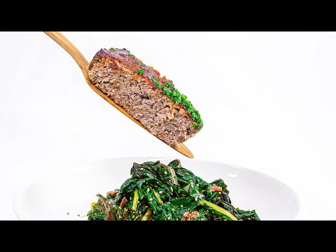 How To Make Skillet Meatloaf With Korean Ketchup & Rainbow Chard Salad By Rachael