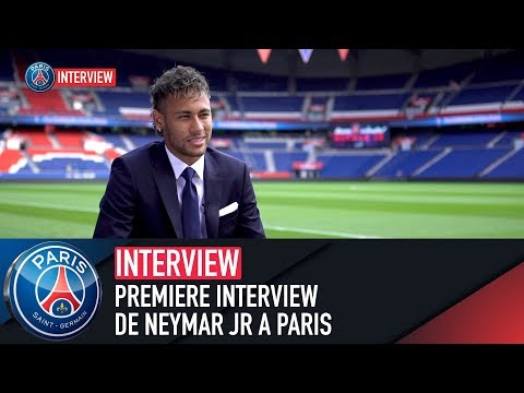 PREMIERE INTERVIEW DE NEYMAR JR A PARIS