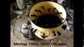 Самодельная перосъемная машина из кастрюли (перощипка)(Изготовление приспособления для механического удаления пера с птицы, первый тест. Описание на сайте http://вс..., 2014-12-07T11:43:05.000Z)