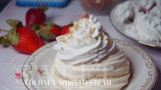 Взбитый крем из кокосового молока | Веганский кокосовый крем | Vegan cream | Juli_FoodBasics