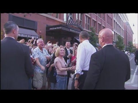 Raw Video #2: President Obama meets people in downtown Denver