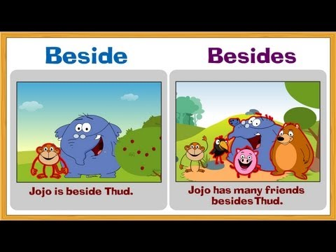 Problem Prepositions - Beside and Besides