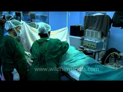 Preparing a patient for fibrocystic breast surgery