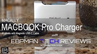 Macally 61W MACBOOK Pro Charger with Magnetic USB-C cable