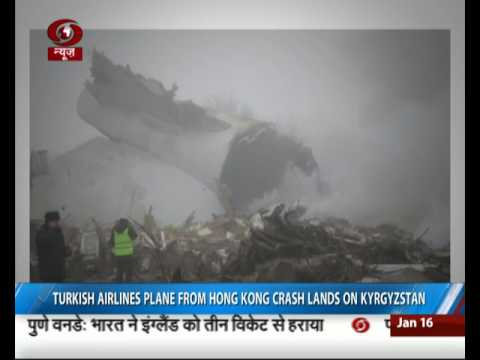 Turkish airlines plane crashes in Kyrgyzstan