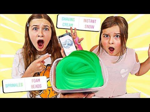 FIX THIS SLIME CHALLENGE! Instagram Picks My Slime Ingredients! | JKrew