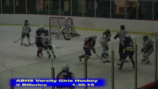 Acton Boxborough Girls Ice Hockey at Billerica 1/30/15