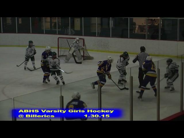 Acton Boxborough Girls Ice Hockey at Billerica 1/30/15