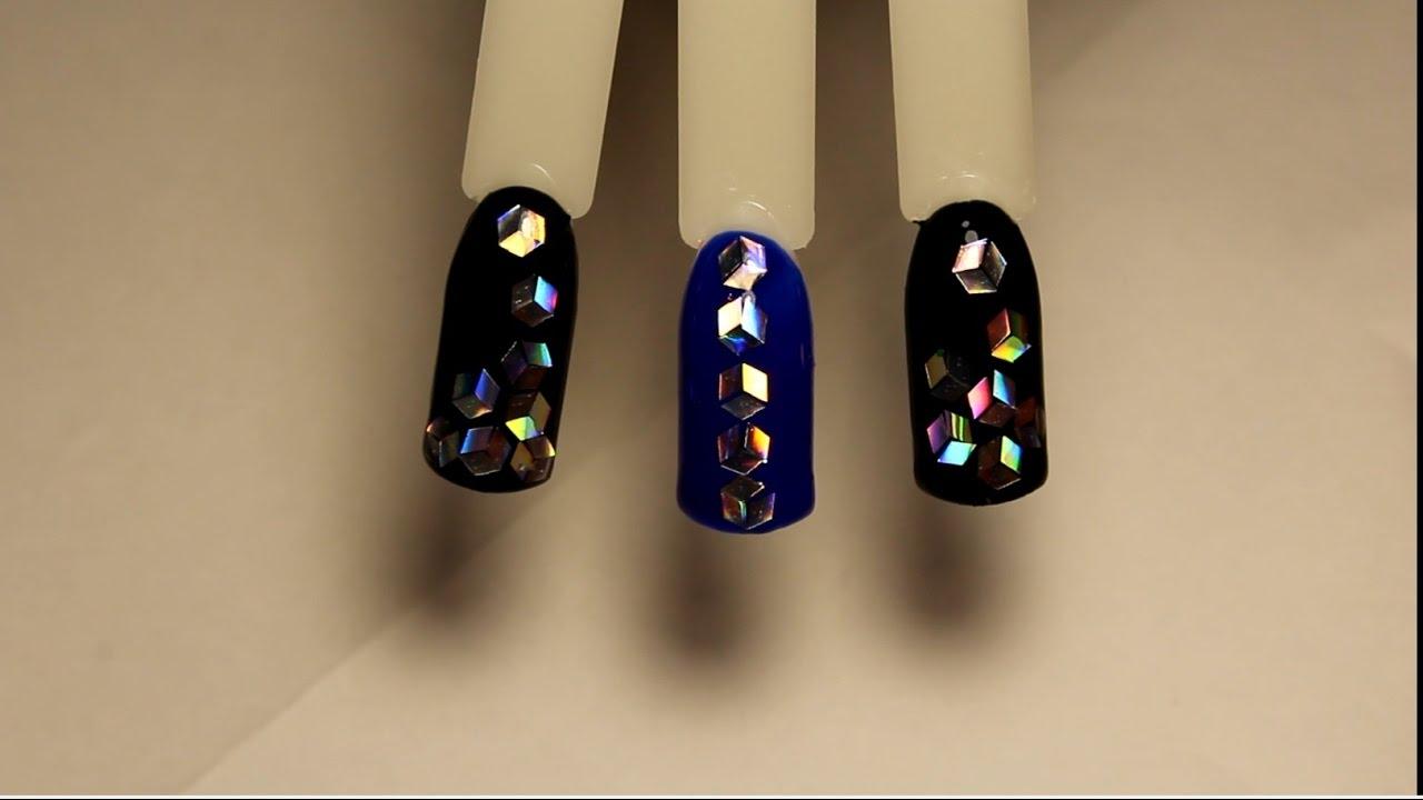 Ромбы дизайн ногтей