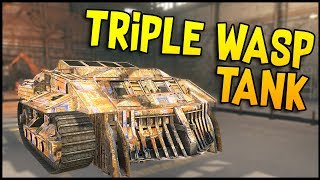 Crossout - TRIPLE WASP TANK BUILD! - Crossout Gameplay