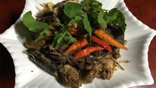 Fry Holy Basil Cambodian Food